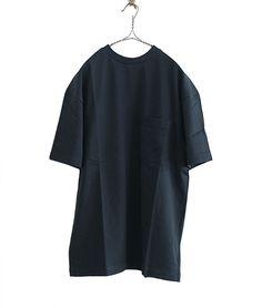 ES:S ラウンドネックビッグTシャツ(BLACK) - FLORAISON