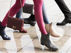 CHELSEA RUBBER BOOTIE Chelsea, Fall Winter 2015, Rubber Rain Boots, Booty, Ankle, Shoes, Women, Fashion, Moda