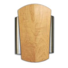 Heath Zenith   Wired Door Chime With Natural Finish Cover And Classic Side  Brushed Nickel Finish