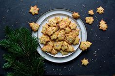 Maltese Lemon Christmas Cookies Recipe Desserts with all-purpose flour, baking soda, cream of tartar, salt, butter, granulated sugar, vanilla pods, grated lemon zest, eggs, sprinkles