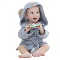 01072d9e2d Comfortable Baby Bathrobe Cute Animal Cartoon Babies Animals Blanket Kids  Hooded Bathrobe Toddler Baby Bath Towel with belt