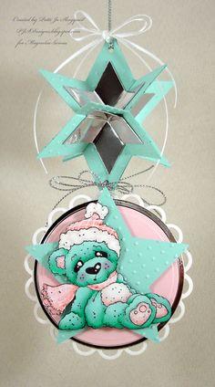 Christmas Bear, Little Christmas collection, Magnolia stamps