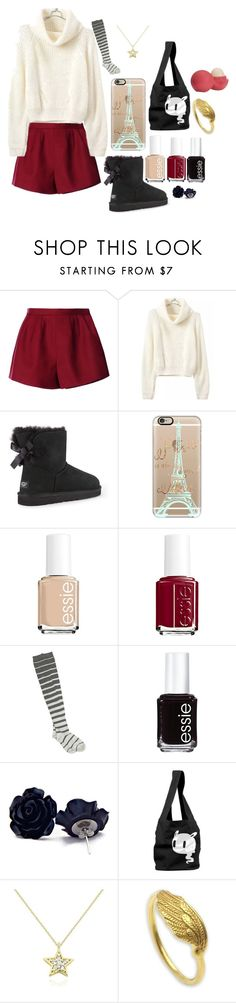 """Untitled #68"" by emilychen-778 on Polyvore featuring RED Valentino, UGG Australia, Casetify, Essie, Angie, KC Designs, NOVICA, Eos, women's clothing and women"
