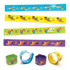 Star Hero Snap-on Bracelets - Baker Ross Superhero Fashion, Party Bag Fillers, Blue Design, Goodie Bags, Craft Party, Colours, Stars, Fun, Crafts