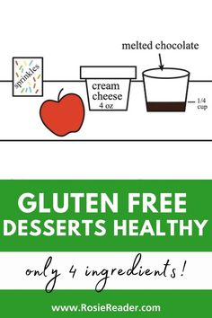 Want some gluten free desserts healthy? This no-bake dessert is DELICIOUS and super fun for kids! Chocolate Sprinkles, Melting Chocolate, Gluten Free Snacks, Gluten Free Recipes, No Bake Desserts, Healthy Desserts, Celiac Disease In Children, Reading Adventure, Kids Reading