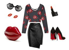 outfit lip print