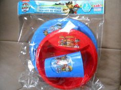 Nickelodeon Paw Patrol Mealtime Set 3 Piece Cup Plate Bowl Plastic NEW #Nickelodeon