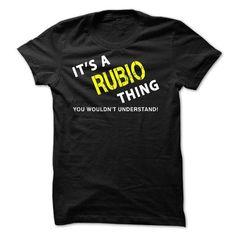 It is A RUBIO Thing tee    - #boyfriend sweatshirt #sweater jacket. LIMITED AVAILABILITY => https://www.sunfrog.com/No-Category/It-is-A-RUBIO-Thing-tee--.html?68278