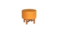 Pufe Amarelo Cookie. Design por Eduardo Bortolai | MUMA | - Móveis e objetos de design assinado - Entrega em todo o Brasil