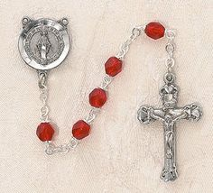 $28.74 + $9.25 shipping - Heritage Italian Catholic Ruby (July) Czech Birthstone Rosary Silver Oxidized 5mm Crystal Bead 1¼ Crucifix by Creed Jewelry, http://www.amazon.com/dp/B00CR6FR6W/ref=cm_sw_r_pi_dp_dVmKrb1QTZT6Z