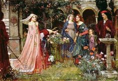 John William Waterhouse The Magic Garden