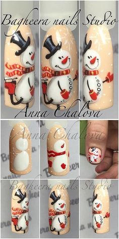 snowman on your nails this year? How to make adorable nail design easy and fast