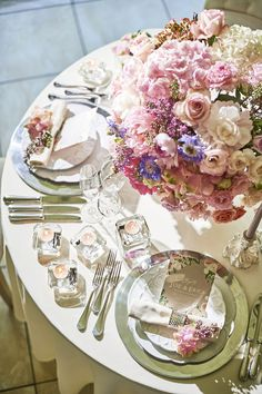 When You Love, Loving Someone, Wedding Coordinator, Pretty Little, Blue Flowers, Tablescapes, Table Settings, Table Decorations, Pink
