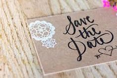 brown card save the date - Google Search