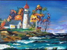 Youtube Art Sherpa How To Paint Acrylics Of Fall Lake