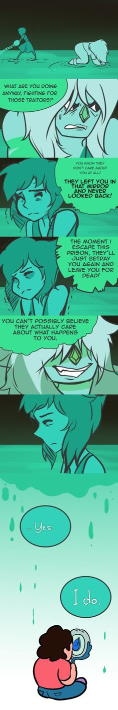 How much faith do you think Lapis has in Steven to continue fighting Jasper for eternity?  And no doubt that Jasper is trying to crush her spirit as much as she can…