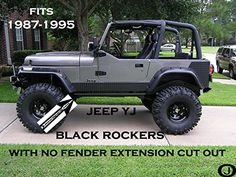 Jeep YJ Black Diamond Plate Side Rocker Panel with No Cut...This may be found cheaper on ebay. BD