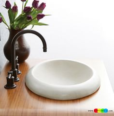 Bathroom:Contemporary Modern Artisan Crafted Sinks Handcrafted Vessel Metal Sink Bathroom Interior Furniture Decor Design Ideas Lovely Sink Crafted From Jute In Pearl White Eco-Conscious, Artisan Crafted Sinks Sparkle With Contemporary Class