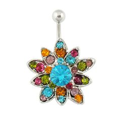 Price:$9.99 Quality Body Jewelry See more at http://lankwaifong.bigcartel.com/product/grhmf22000003-unique-sunflowers-hinged-belly-button-ring  Unique sunflowers Hinged Belly Button Ring