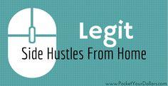 Legit Side Hustle From Home: Amazon's Mechanical Turk.