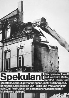 In 1971, German graphic designer and photographer Gunter Rambow produced a series of posters tackling the failing realm of urban planning and building construction. The work used documentary-style photographs and strong typography, in a way that reminds the work of contemporaneous artist Barbara...