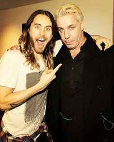 Till Lindemann from Rammstein and Jared Leto from Tirthy Seconds to Mars