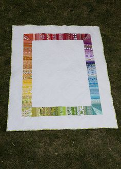 great use of color and a non-typical color wheel shape! #fromthebluechair...I'd love to use this as a backing on a granddaughter quilt.