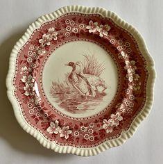Game Birds, Plate Design, Vintage Plates, White China, China Patterns, Serveware, Antique Art, Textures Patterns, Cutlery