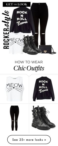 """""""Rock Out"""" by ashantay87 on Polyvore featuring New Look, High Heels Suicide, Miss Selfridge, Jimmy Choo, Giuseppe Zanotti, rockerchic and rockerstyle"""
