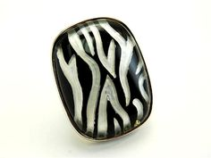 ANIMAL PRINT LADIES FASHION ADJUSTABLE RING - Silver Rings - Costume Jewellery Rings - Jewellery