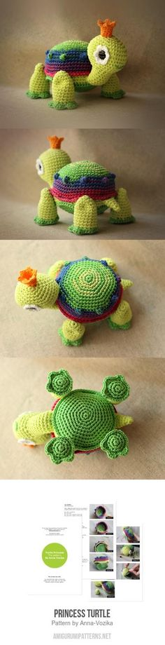 Princess Turtle Amigurumi Pattern for purchase