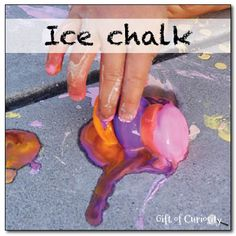 Ice chalk - art with a frozen sensory twist! || Gift of Curiosity