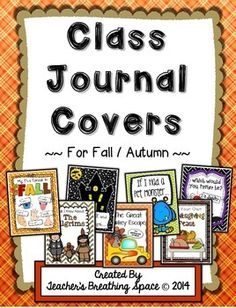 Whole Class Writing Journal Covers for Fall / Autumn