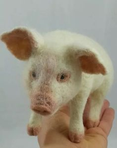 Incredibly lifelike pig sculpture by Tatiana Trot