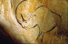 Rinoceronte - 36000 anni fa - tizzoni su parete rocciosa - Grotta di Chauvet, Francia.