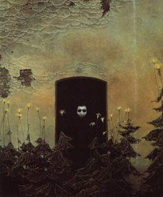 Surrealism and Visionary art: Zdzislaw Beksinski Fantasy Landscape, Fantasy Art, Horror, Creepy Art, Arts Ed, Visionary Art, Abstract Styles, Photo Manipulation, Dark Art