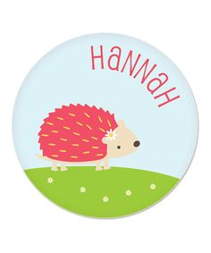 Take a look at this Hedgehog Personalized Plate by sarah + abraham on #zulily today!