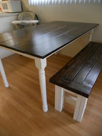 park west: Farmhouse Kitchen Table. Maybe do this to the kitchen table