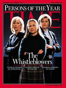TIME Cover: The Whistleblowers, Person of the Year