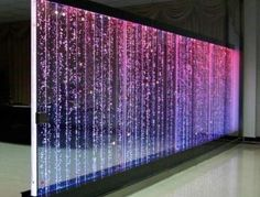 LED Water Feature Bubble Lighting is part of diy-home-decor - Blue) Via Remote Control Multiple Units Can Be Purchased To Create A LED Room Divider Living Room Partition, Room Partition Designs, Partition Ideas, Home Aquarium, Aquarium Design, Vertikal Garden, Indoor Water Features, Indoor Water Fountains, Indoor Fountain