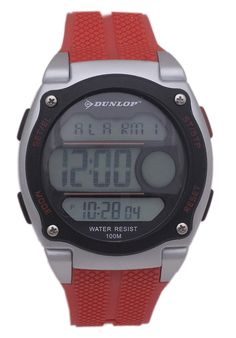 Price:$23.00 #watches Dunlop DUN-182-G07, This Dunlop timepiece is designed for the sporty man. It's size, ruggedness and multiple functions make it a great value. Brown Band, Red Band, Sports Brands, Black Stainless Steel, Casio Watch, Digital Watch, Designing Women, Yellow Black, Watches For Men