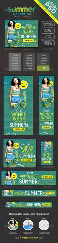 Summer Fashion Banners Template PSD | Buy and Download: http://graphicriver.net/item/summer-fashion-banners/8080784?WT.ac=category_thumb&WT.z_author=doto&ref=ksioks