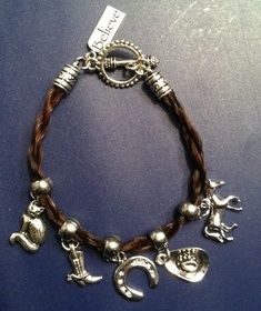 Twirly Tails Horse Hair Jewelry - Bracelets I can make you a keepsake from the hair of your horse.   http://twirlytails.webs.com
