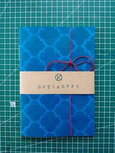 Notebook, Etsy, Blue Patterns, Kraft Paper, Stencils, Craft Gifts, Handmade, The Notebook, Exercise Book
