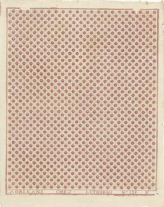 Dominotierpapier, patroonnummer 135Y, Jean-Baptiste Letourmy, 1800 - 1900