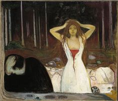 Ashes - Edvard Munch, oil on canvas, x National Gallery, Oslo, 1894 Edward Munch, Hans Baldung Grien, Karl Schmidt Rottluff, Amedeo Modigliani, Oil Painting Reproductions, Wassily Kandinsky, Renoir, National Museum, Famous Artists
