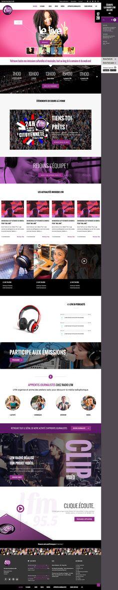 LFM radio - Accueil site web - Portfolio de Caroline Constant
