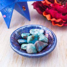 Chrysocolla with Quartz Tumbled Gemstone by BelladeLunaDesigns