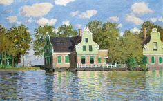 Claude Monet - Häuser am Wasser (Zaandam)