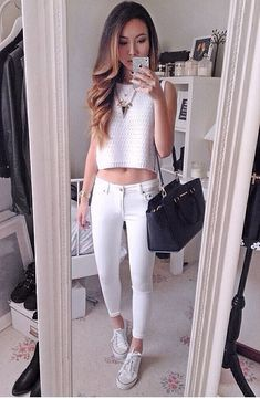 very cute summer spring outfit love this OOTD .